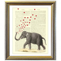 Elephant Blowing Love Hearts