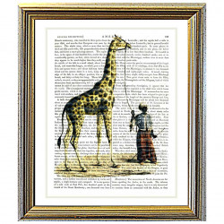 Giraffe and Man