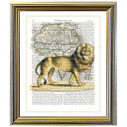 Lion of Senegal and Map of Africa