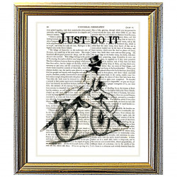 Vintage Hipster Bicycle...Just Do It