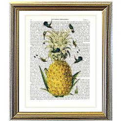 Pineapple and Hummingbirds