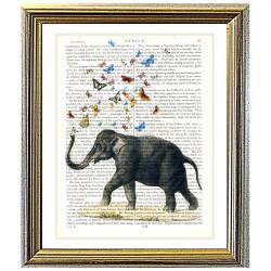 Elephant Blowing Butterflies