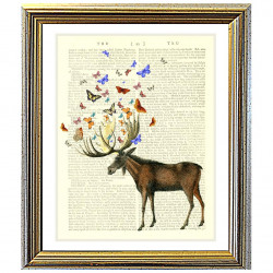 Moose and Butterflies - Forest Friends