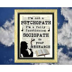 Sherlock Holmes; Psychopath or Sociopath